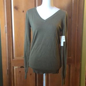 Abound Olive Green V-neck Long Sleeve Sweater
